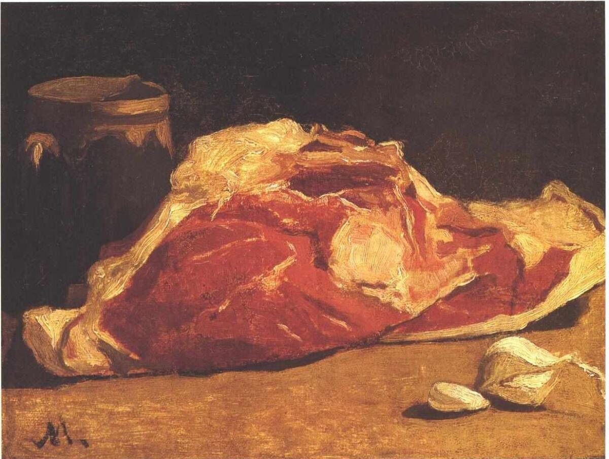 Клод Моне, «Натюрморт с мясом», 1862г.