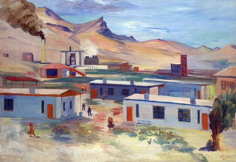 М. С. Сарьян, «Рабочий поселок и цементный завод в Давалу»