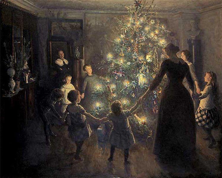 Вигго Юхансен, «Светлое Рождество », 1891 г.