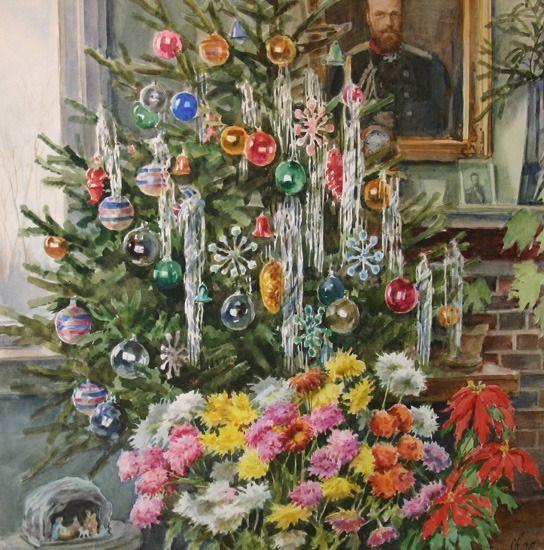 О. А. Романова, «Рождество Христово у Великой Княгини», 1950 г.