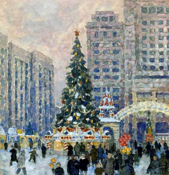 М. П. Бобышев, «Новогодняя елка на Манежной площади», 1947 г.