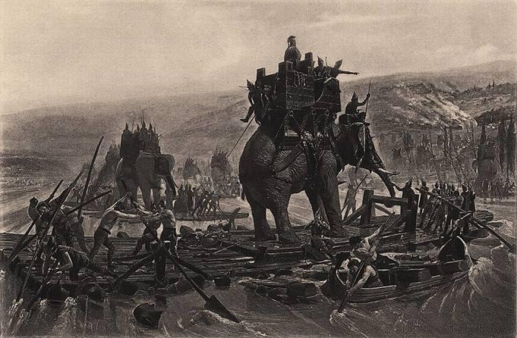 Анри-Поль Мотт, «Переправа Ганнибала через реку Рону»
