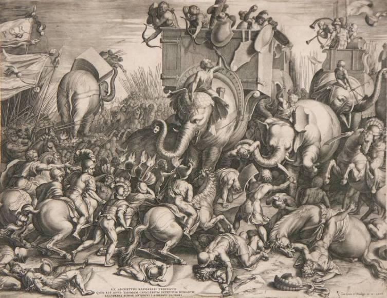 Корнелис Корт, «Битва при Заме», 1567 г.