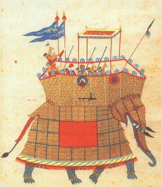 Боевой слон времён Империи Великих Моголов, XVII век