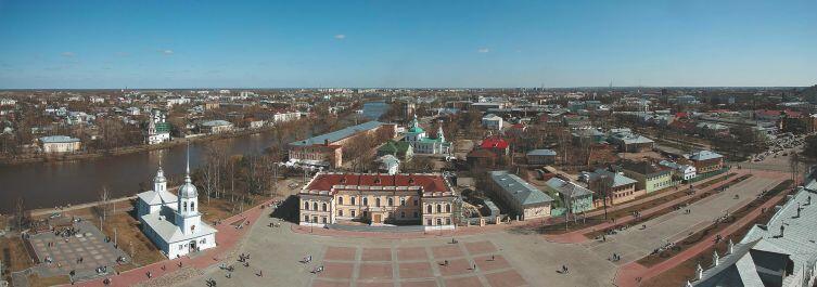 Панорама Вологды с колокольни Софийского собора