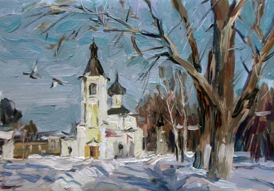 Б. А. Студенцов, «Вологда. Церковь Покрова»,  2013 г.