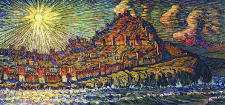 К. Ф. Богаевский, «Генуэзская крепость»,  1907 г.