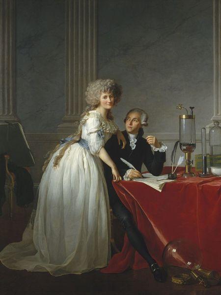 Жак Луи Давид, «Портрет Лорана Лавуазье и его жены Марии», 1788 г.