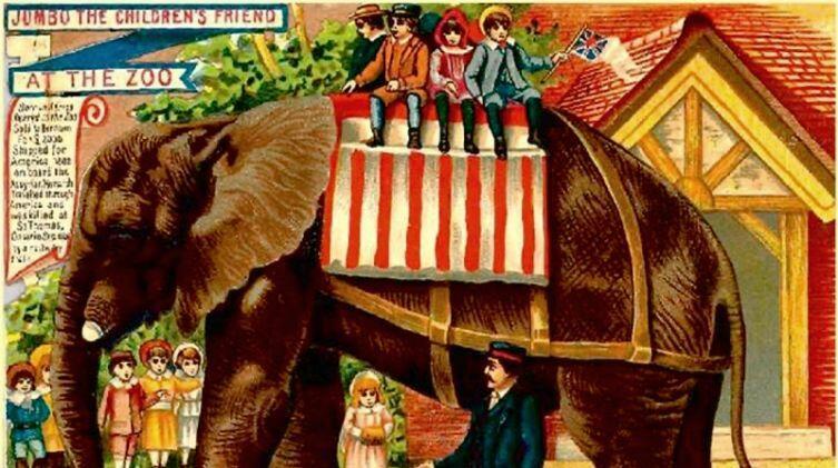 «Джамбо — друг детей». Открытка. Великобритания, около 1880 г.