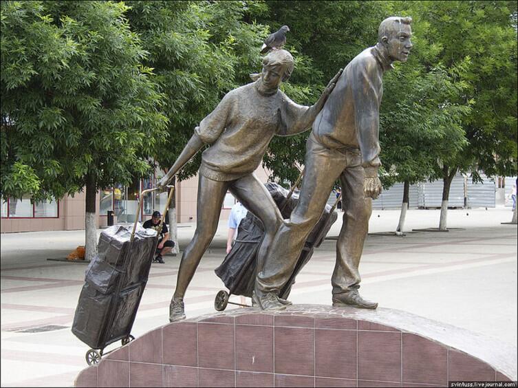 Памятник «челнокам» в Белгороде
