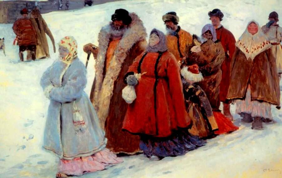С.В. Иванов, «Семья», 1907 г.