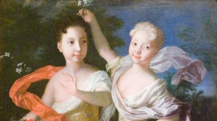Луи Каравак, «Портрет царевен Анны Петровны и Елизаветы Петровны», 1717 г.