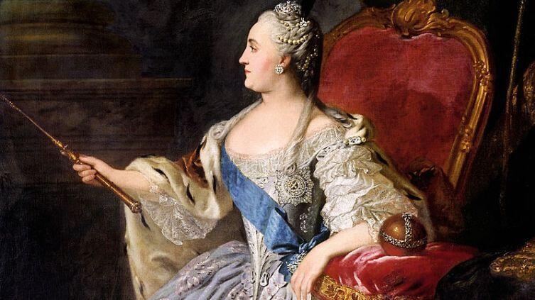 Ф. С. Рокотов, «Екатерина II Алексеевна», фрагмент, 1763 г.