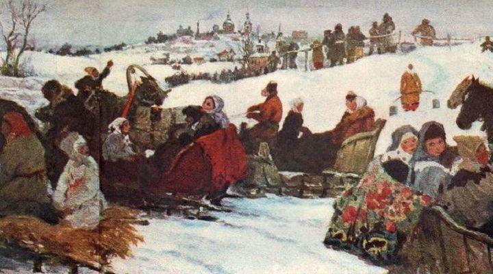 А. А. Бучкури, «Катание на святках»