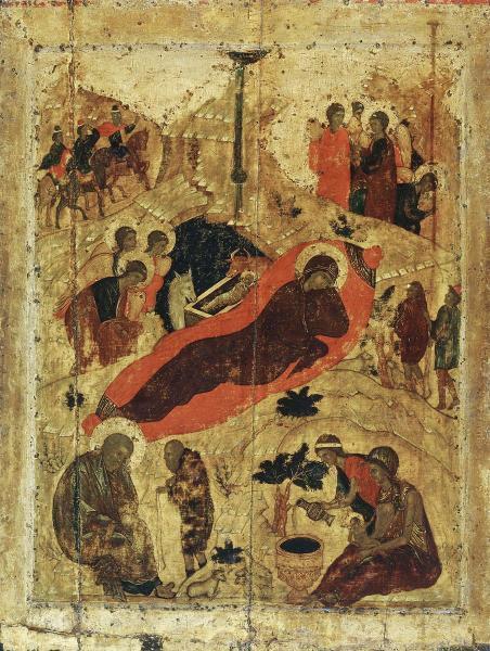 Андрей Рублев, «Рождество Христово», 1405 г.