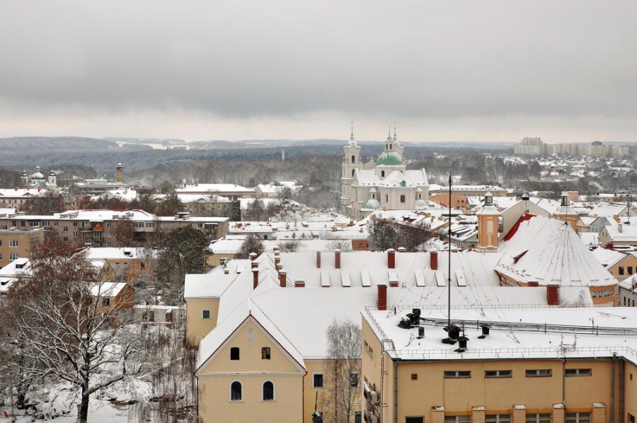 Панорама зимнего Гродно