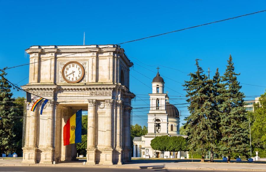 Триумфальная арка в Кишиневе, Молдова