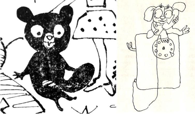 Чебурашка на рисунках В. Алфеевского и Г.Калиновского