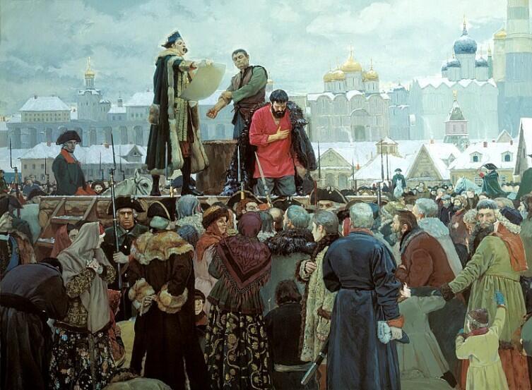 В. Маторин, «Прости, народ православный», казнь Пугачева