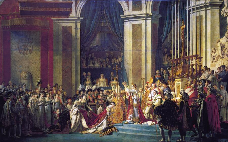 Жак Луи Давид, «Коронование императора Наполеона I и императрицы Жозефины в соборе Парижской Богоматери 2 декабря 1804 года», 1805-1808 гг.