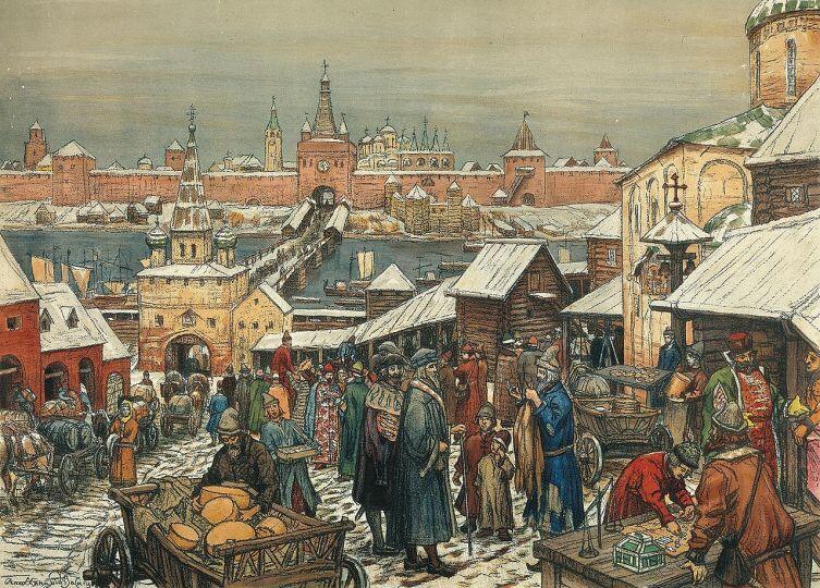 А. М. Васнецов, «Новгородский торг»