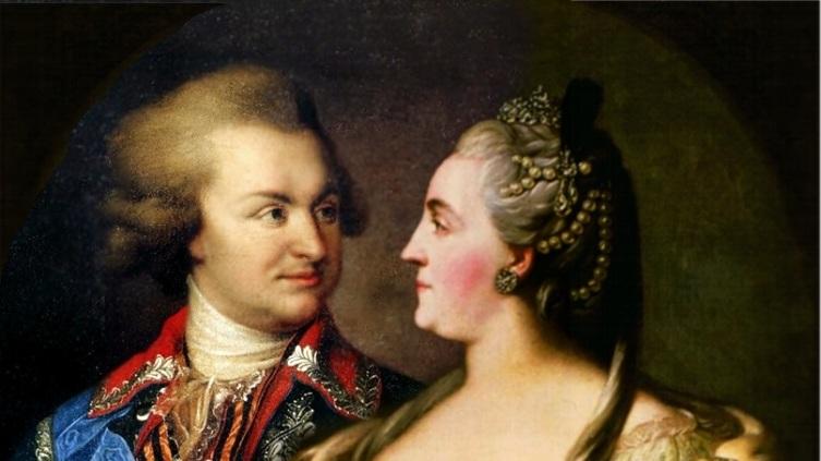 Екатерина II и Потёмкин (коллаж)