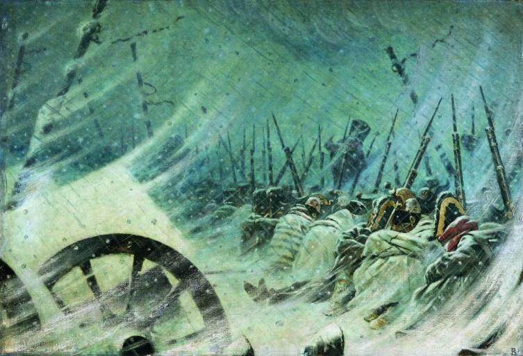 В. В. Верещагин, «Ночной привал великой армии», 1896-1897 гг.