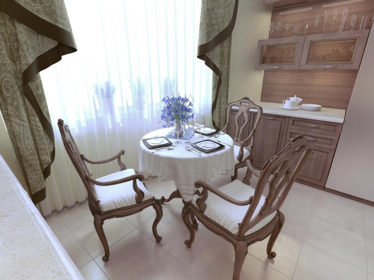 Столовая комната стиля неоклассицизм