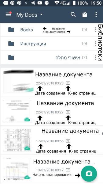 Программа открывается списком документов
