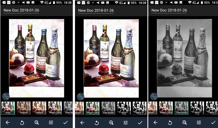 Применение различных фильтров (Авто, Magic Color, черно-белая фотография)