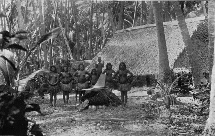 Деревня на Науру, 1896 г.
