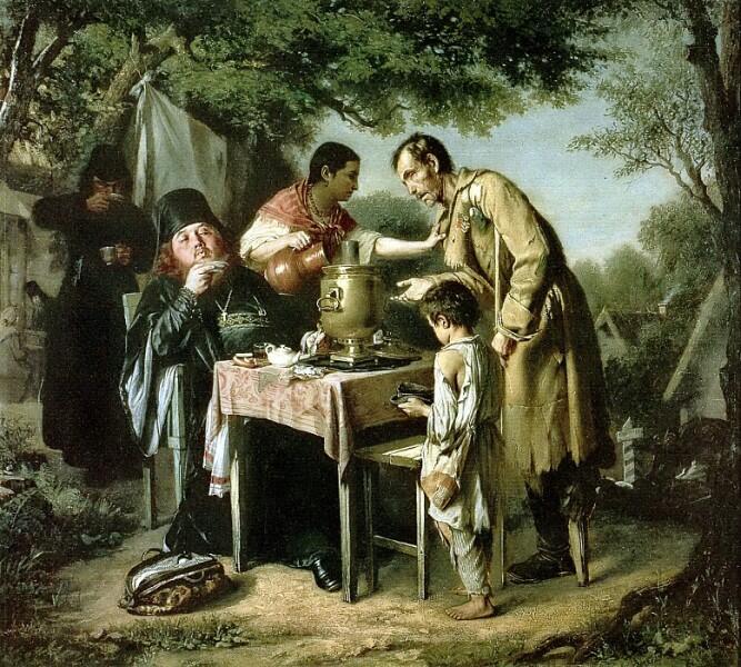 В. Г. Перов, «Чаепитие в Мытищах, близ Москвы», 1862 г.