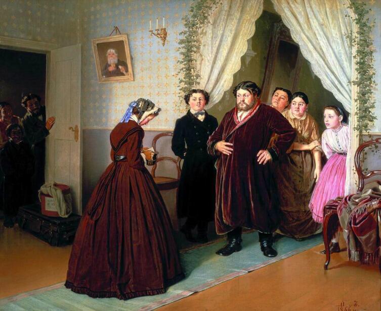 В. Г. Перов, «Приезд гувернантки», 1866 г.