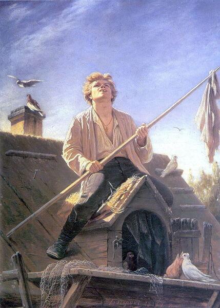 В. Г. Перов, «Голубятник», 1874 г.