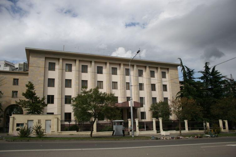 Здание бывшего посольства России в Тбилиси. Ныне секция интересов России при посольстве Швейцарии