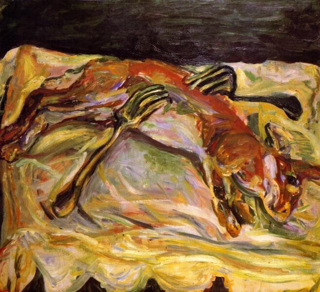 Х. С. Сутин, «Заяц с вилками», 1924 г.