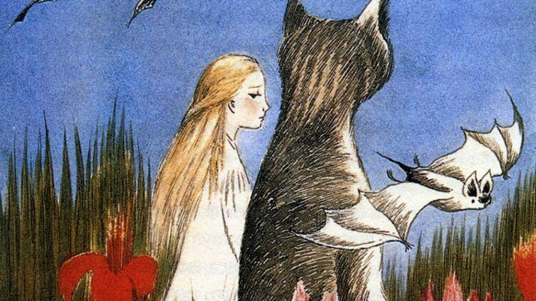 Туве Янссон, Иллюстрация к сказке Л. Кэрролла «Алиса в стране чудес», фрагмент