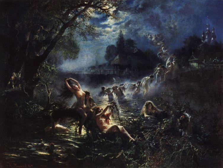 К. Е. Маковский, «Русалки», 1879 г.