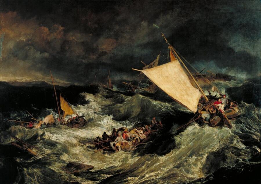 Джозеф Мэллорд Уильям Тёрнер, «Кораблекрушение», 1805 г.