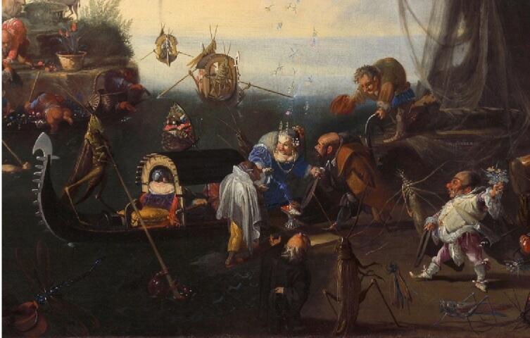Фаустино Бокки, «Прибытие невесты», фрагмент «Жених и невеста»