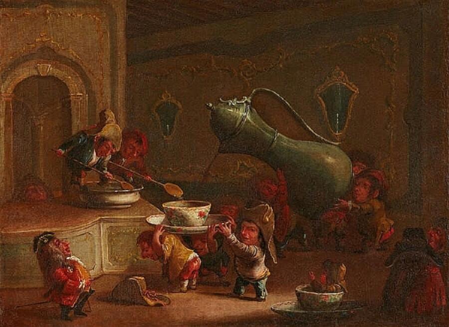 Фаустино Бокки, «Гномы пьют кофе», ок. 1690-95 гг.