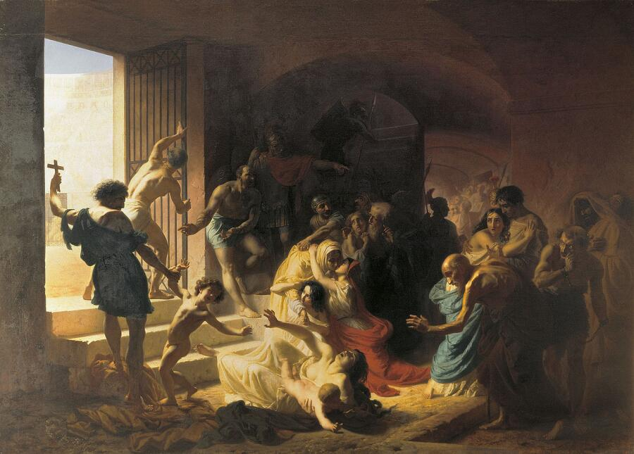 К. Д. Флавицкий, «Христианские мученики в Колизее», 1862 г.