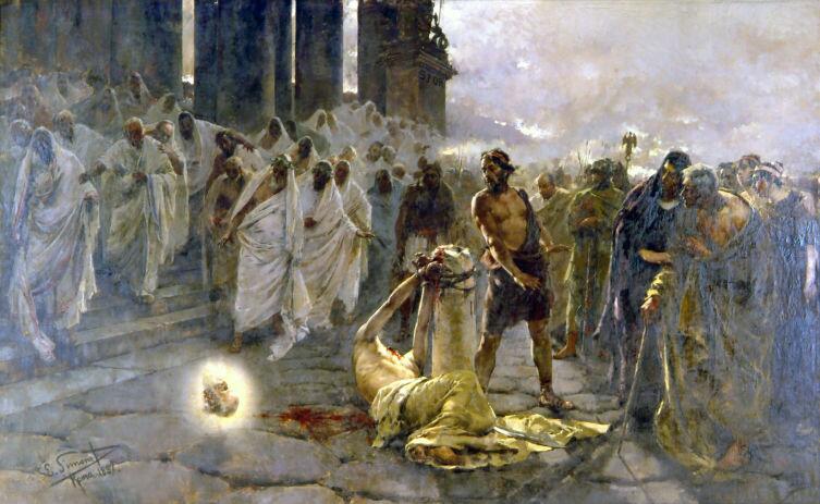 Энрике Симоне, «Усекновение главы св. Павла», 1887 г.