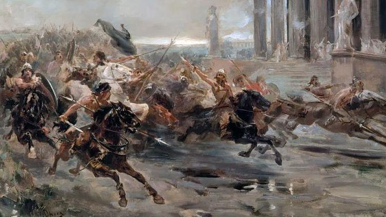 Ульпиано Кеки, «Гунны идут на Рим»