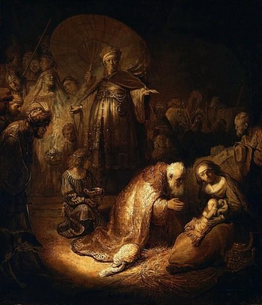 Рембрандт Харменс ван Рейн, «Поклонение волхвов», 1632 г.