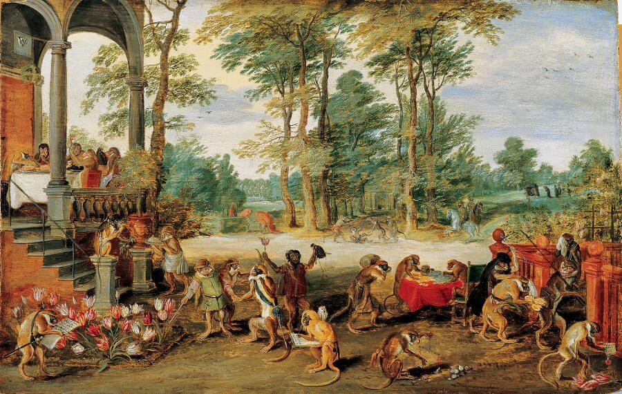 Ян Брейгель Младший, «Аллегория тюльпаномании», ок. 1640 г.