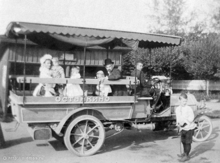 Автобус «Даймлер» в Останкино, 1907 год