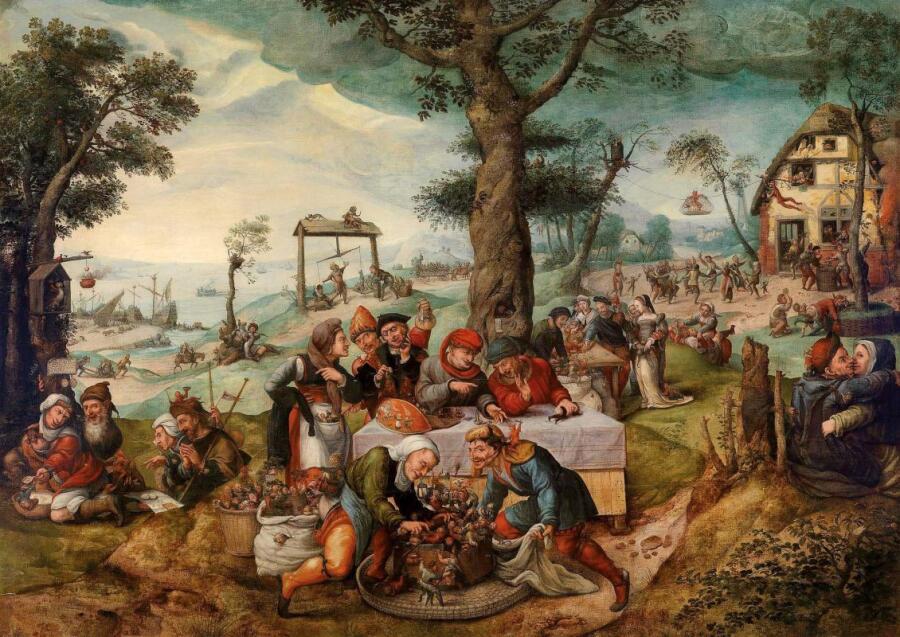Франс Вербеек, «Торговля дураками, или Осмеяние людской глупости», XVI век