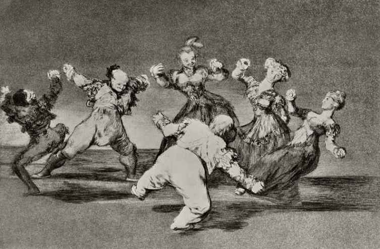 Франсиско Гойя, серия «Диспаратес», лист 12: «Веселая глупость», 1819 г.