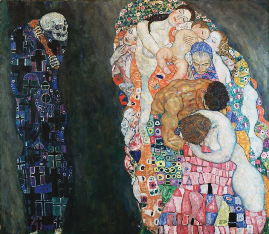 Густав Климт, «Смерть и Жизнь», 1915 г.